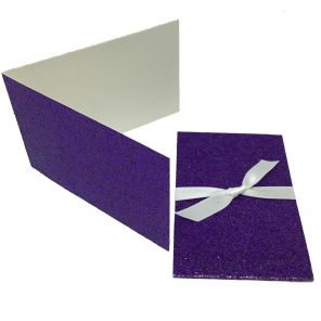 Glitter Violet Scratch Card Wallet Kit